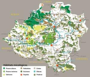 Mapa de habitats micológicos de Soria